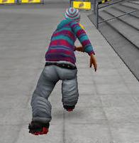 Skater pe role 3D